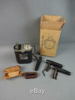 Vintage NOS White-Rogers U. S. Army Blasting Machine 10 Cap #6901 w Box Strap +