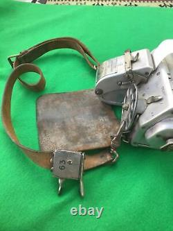 Vintage Post War Bus Conductors Ticket Machine With Leather Strap And Pouch