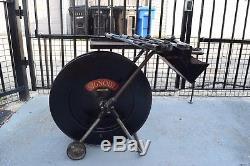 Vintage Signode metal banding dispenser, tensioner, sealer